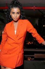 IMAAN HAMMAM at Frame x Imaan Dinner at New York Fashion Week 02/07/2020