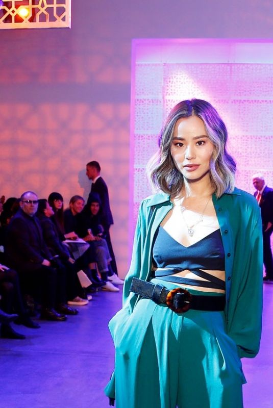 JAMIE CHUNG at Noon by Noor Runway Show at New York Fashion Week 02/11/2020