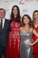JANE SEYMOUR and KATHERINE and JENNIFER FLYNN at Jane Seymour Open Hearts Foundation in Beverly Hills 02/15/2020