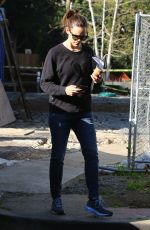 JENNIFER GARNER at a Construction Site in Brentwood 02/24/2020