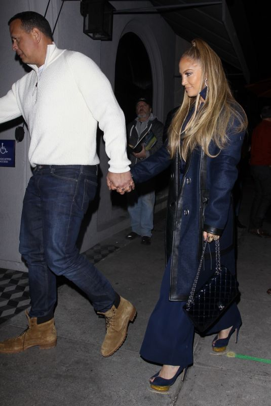 JENNIFER LOPEZ and Alex Rodriguez at Craig's in West Hollywood 02/13/2020