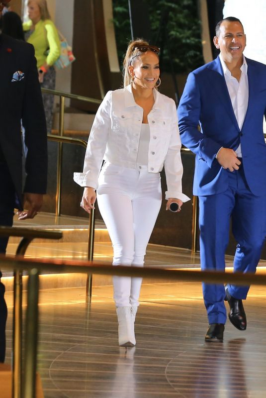 JENNIFER LOPEZ and Alex Rodriguez on the Set of Hard Rock Super Bowl Commercial 02/01/2020
