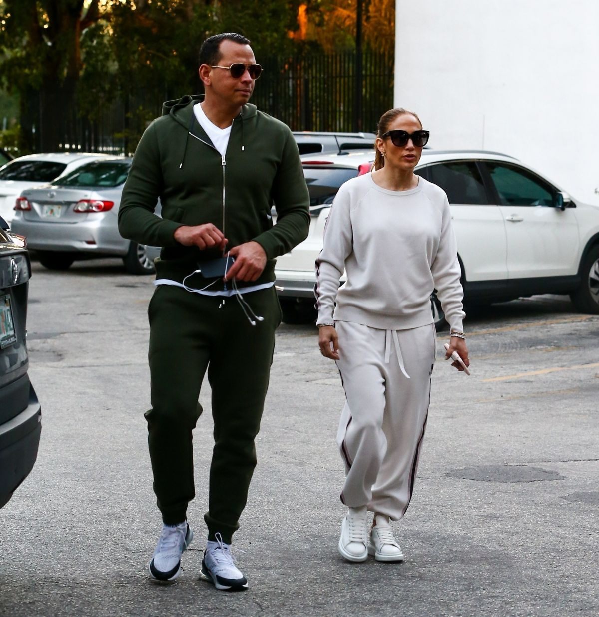 JENNIFER LOPEZ and Alex Rodriguez Out for Dinner in Miami