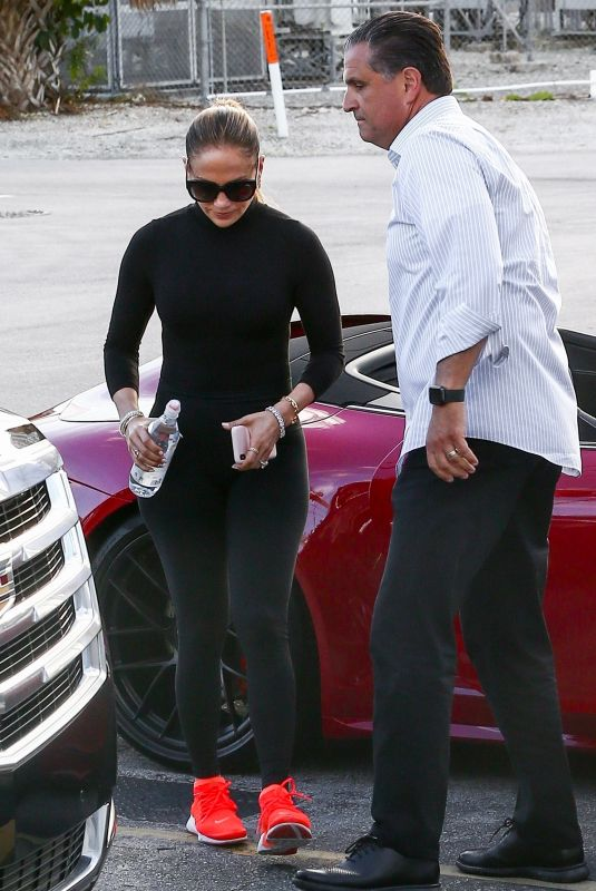 JENNIFER LOPEZ Arrives at a Gym in Miami 02/23/2020