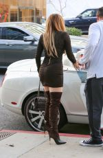JENNIFER LOPEZ in a Tight Dress Arrives at a Business Meeting in Los Angeles 02/18/2020