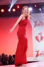 JERI RYAN at American Red Heart Association's Go Red for Women Red Dress Collection in New York 02/05/2020