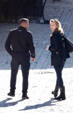 JODIE COMER onthe Set of The Last Duel in France 02/15/2020