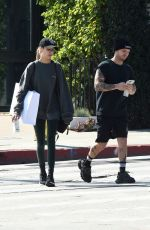 JOSEPHINE SKRIVER and Alexander Deleon Leaves a Gym in Los Angeles 02/18/2020