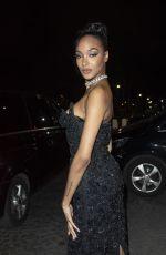 JOURDAN DUNN Arrives at CR Fashion Book x Redemption Party in Paris 02/28/2020