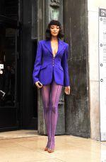 JOURDAN DUNN Arrives at Thierry Mugler Fashion Show in Paris 02/26/2020