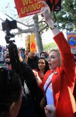 JUNE DIANE RAPHAEL Joins Greenpeace at Fire Drill Fridays in Los Angeles 02/07/2020