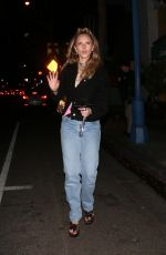 JUNO TEMPLE Out for Dinner in West Hollywood 02/02/2020
