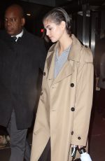 KAIA GERBER Arrives at Proenza Schouler Fashion Show in New York 02/10/2020