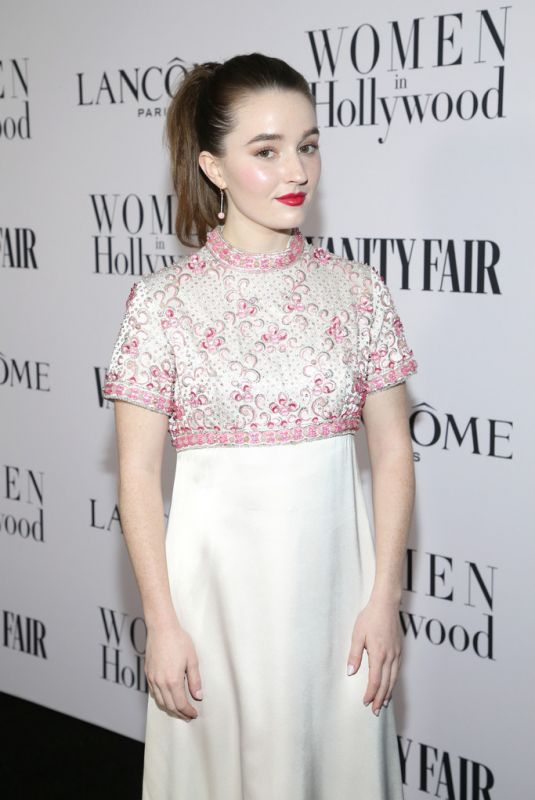 KAITLYN DEVER at Vanity Fair & Lancome Toast Women in Hollywood in Los Angeles 02/06/2020