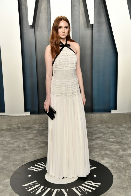 KAREN GILLAN at 2020 Vanity Fair Oscar Party in Beverly Hills 02/09/2020
