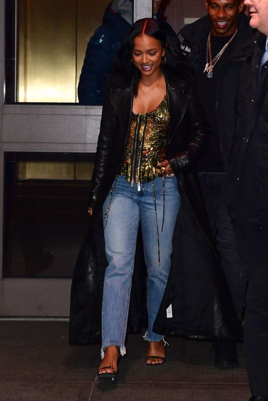 KARRUECHE TRAN Leaves Madison Square Garden in New York 02/21/2020