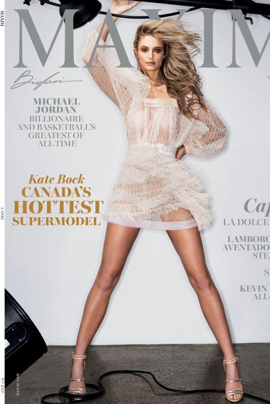 KATE BOCK for Maxim Magazine, March/April 2020