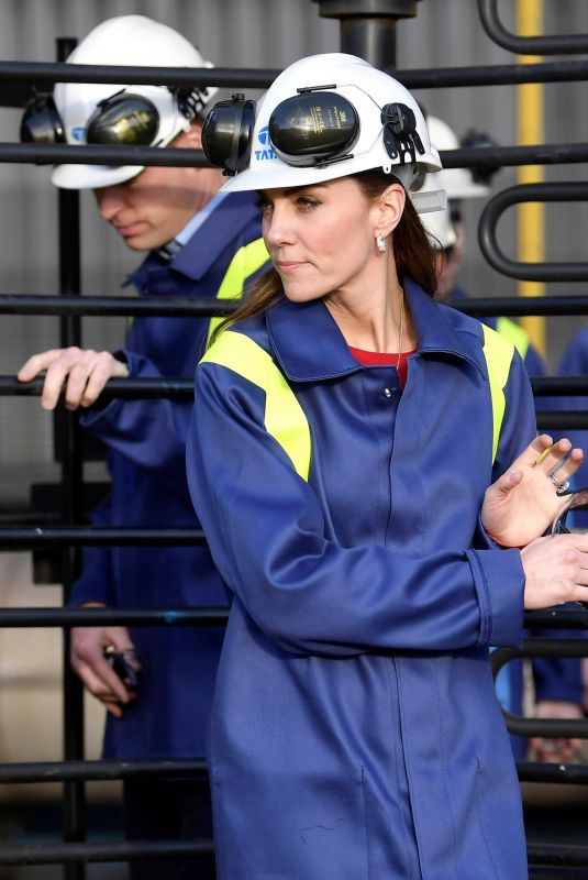 KATE MIDDLETON at Tata Steel in Port Talbot 02/04/2020