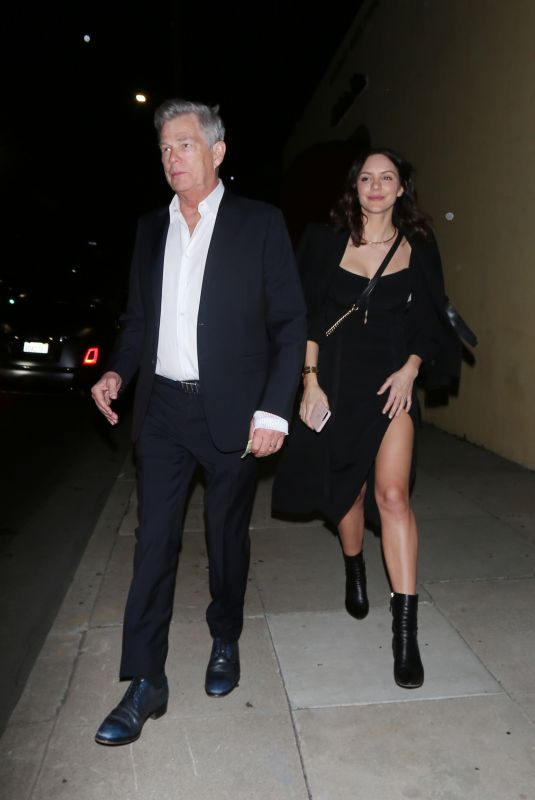 KATHARINE MCPHEE and David Foster Leaves a Pre-oscar Dinner in Beverly Hills 02/07/2020
