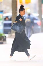 KATIE HOLMES Heading Back to Her Home in New York 02/20/2020