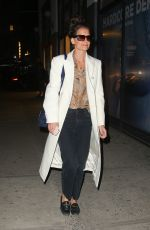 KATIE HOLMES Night Out in New York 02/19/2020