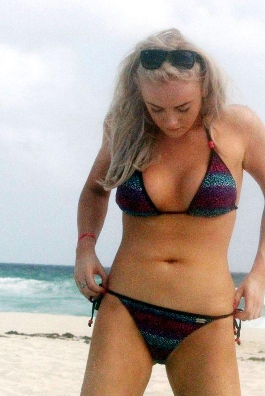 KATIE MCGLYNN in Bikini on the Beach in Mexico 01/19/2020