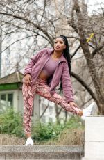 KEKE PALMER Working Out at Central Park in New York 01/30/2020