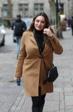 KELLY BROOK Arrives at Heart Radio in London 02/10/2020