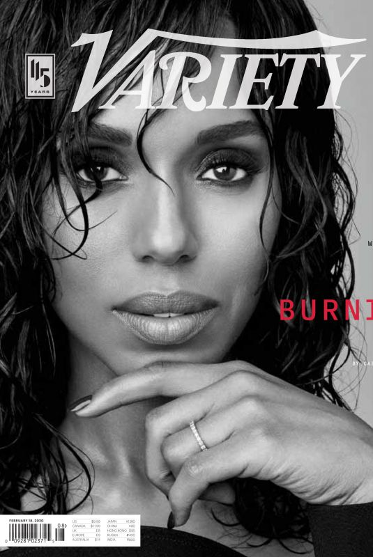 KERRY WASHINGTON on the Cover of Variety Magazine, February 2020