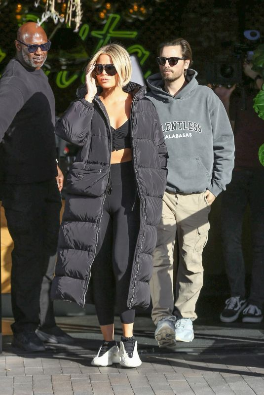 KHLOE KARDASHIAN and Scott Disick Out for Coffee in Woodland Hills 02/21/2020