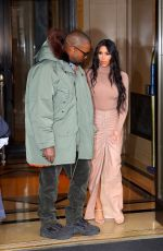 KIM KARDASHIAN and Kanye West Leaves Their Hotel in New York 02/05/2020