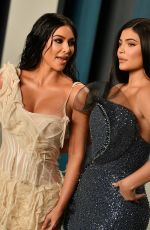 KIM KARDASHIAN and KYLIE JENNER at 2020 Vanity Fair Oscar Party in Beverly Hills 02/09/2020