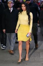 KIM KARDASHIAN Heading to Good Morning America in New York 02/05/2020