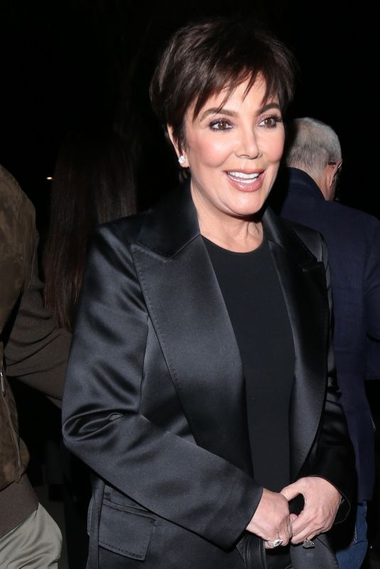KRIS JENNER Arrives at Tom Ford Fashion Show in Los Angeles 02/07/2020