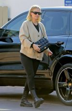 LARA BINGLE Out with Her Dog in West Hollywood 02/07/2020
