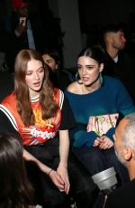 LARSEN THOMPSON and LUNA BLAISE at Palm Angels Show at New York Fashion Week 02/09/2020