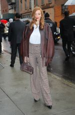 LARSEN THOMPSON Arrive at Coach Fashion Show in New York 02/11/2020
