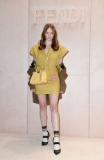 LARSEN THOMPSON at Fendi Fashion Show in Milan 2/20/2020