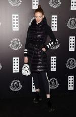 LARSEN THOMPSON at Moncler Fashion Show in Milan 02/19/2020