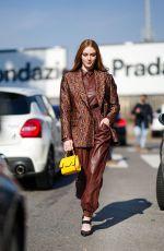 LARSEN THOMPSON Out at Milan Fashion Week 02/22/2020