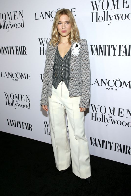 LEA SEYDOUX at Vanity Fair & Lancome Toast Women in Hollywood in Los Angeles 02/06/2020