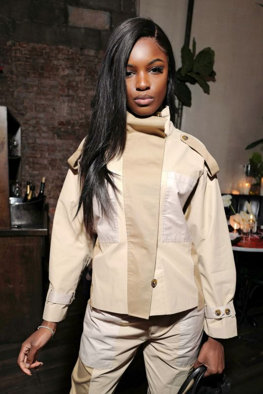 LEOMIE ANDERSON at Frame x Imaan Dinner at New York Fashion Week 02/07/2020