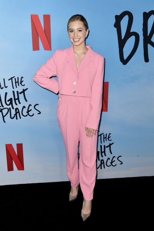 LILIA BUCKINGHAM at All the Bright Places Special Screening in Hollywood 02/24/2020