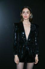 LILY COLLINS at Saint Laurent Fashion Show at PFW in Paris 02/25/2020