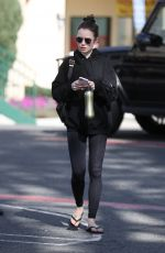 LILY COLLINS Leaves Pilates Class in West Hollywood 02/12/2020