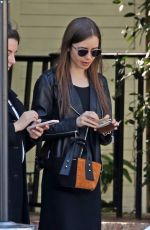 LILY COLLINS Out and About in West Hollywood 02/10/2020