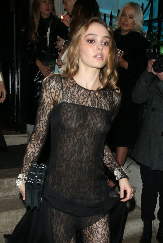 LILY-ROSE DEPP Leaves Annabels in London 02/02/2020
