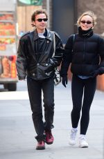 LILY-ROSE DEPP Out and About in Teaneck 02/12/2020