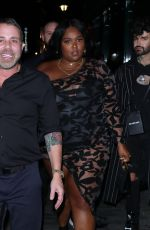 LIZZO Arrives at Brit Awards After-party in London 02/18/2020