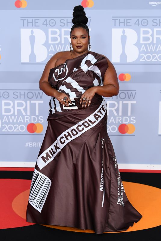 LIZZO at Brit Awards 2020 in London 02/18/2020